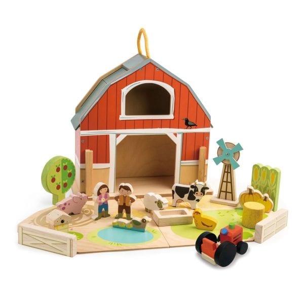 tender leaf toys farm play set