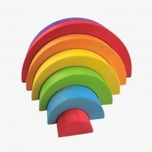 Bajo Rainbow Small – Colourfull Wooden Rainbow Toy
