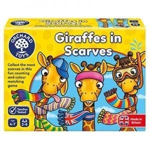 giraffes in scarfs