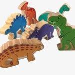 Lanka Kade Wooden Dinosaur Bag of 6