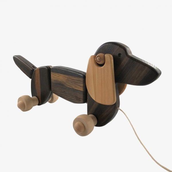 Bajo Wooden Pull Along Dog