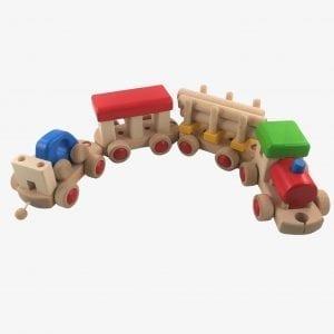 Bajo Wooden Train to Build