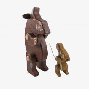 Large Bajo Gruffalo & Mouse Wooden Figures