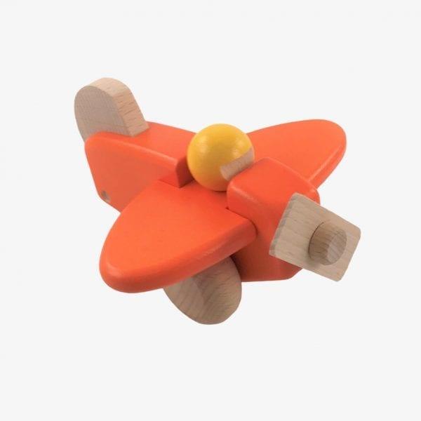 Bajo Small Wooden Plane in Orange