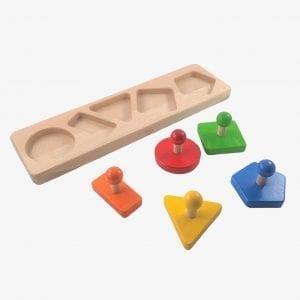 Bajo Figures Wooden Shape Sorting Board