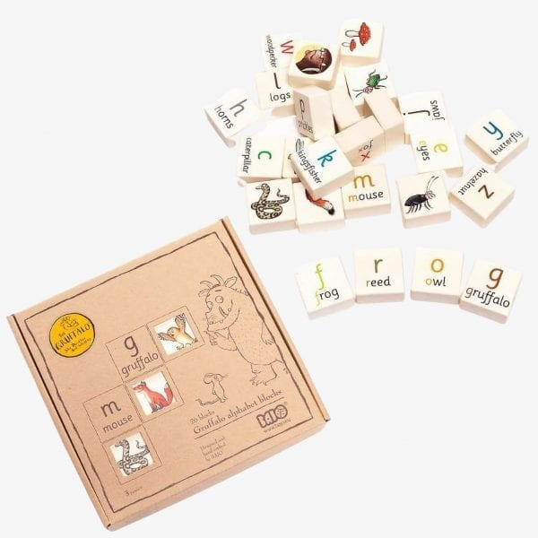 gruffalo alphabet blocks