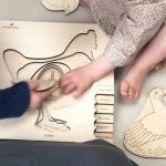 Stuka Puka Chicken Lifecycle 6-layer Wooden Puzzle
